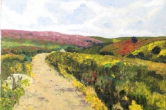 Oil Sketch on canvas paper - Road to Top Withins - £95.00